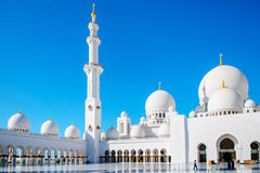 Minaret and domes of Sheikh Zayed Grand Mosque Stock Photography