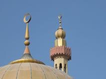 Minaret en koepel op moskee Royalty-vrije Stock Afbeelding