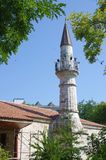 Minaret of Esmahan Sultan Mosque. In Mangalia, Constanța County, Romania build in 1590 and the oldest mosque in Romania Royalty Free Stock Image