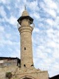 Minaret 2012 för Jaffa al-siksikmoské Arkivfoton