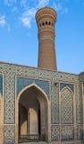 Minaret för moské Kalon och Kalyan, historisk mitt av Bukhara, Uzbekistan royaltyfria bilder
