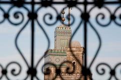 Minaret in Fes, Marokko Stock Fotografie
