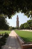 Minaret framed in nature Stock Photography