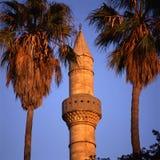 Minaret Gazi Hassan Pasha meczet Zdjęcia Stock