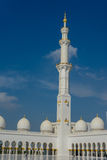 Minaret in Grand Mosque Sheikh Al Zayed in Abu Dhabi Royalty Free Stock Images