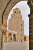 Minaret of the Great Mosque in Kairouan Stock Photography