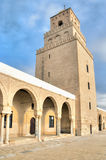 Minaret of the Great Mosque in Kairouan Royalty Free Stock Photo