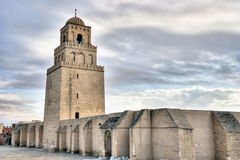 Minaret of the Great Mosque in Kairouan Royalty Free Stock Photography