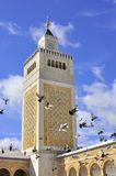 Minaret of the Great mosque in Medina Tunis Stock Photo