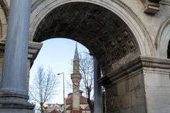 Minaret by Hadrian's gate Stock Images