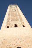 Minaret, Hassan II Moskee, Casablanca Royalty-vrije Stock Afbeelding