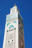 The minaret at Hassan II Mosque Stock Images