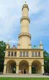 Minaret in het park door Chateau in de Tsjechische Republiek van Lednice Royalty-vrije Stock Fotografie
