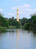 Minaret in het park door Chateau in Lednice & x28; Tsjechische Republic& x29; Royalty-vrije Stock Afbeelding