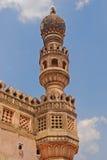 Minaret i det Golkonda fortet Royaltyfri Foto