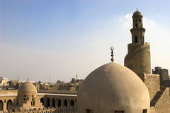 The Minaret of Ibn Tulun. The Mosque of Ahmad Ibn ?ulun is located in Cairo, Egypt. It is arguably the oldest mosque in the city surviving in its original form Royalty Free Stock Images