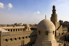 The Minaret of Ibn Tulun. The Mosque of Ahmad Ibn ?ulun is located in Cairo, Egypt. It is arguably the oldest mosque in the city surviving in its original form Royalty Free Stock Image