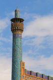 Minaret of Imam Mosque in Isfahan, Iran Stock Images