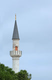 The minaret, Istanbul, Turkey. Cute minaret of  Ahi Celebi Mosque, first built in 1500 Stock Photos