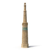 Minaret of Jam Afghanistan on White 3D Illustration. Minaret of Jam Afghanistan on White Background 3D Illustration Stock Photos