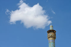 Minaret Jameh meczet Isfahan, Iran fotografia stock