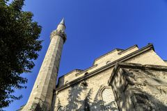 Minaret jeden meczety w Istanbu? zdjęcia royalty free