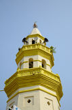 Minaret of Kampung Duyong Mosque a.k.a Masjid Laksamana Melaka in Malacca Royalty Free Stock Images