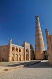 Minaret in Khiva royalty-vrije stock afbeelding