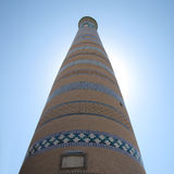 Minaret at khiva Stock Photos