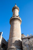 Minaret of King Hussein Mosque in Amman Royalty Free Stock Images