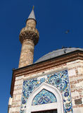 Minaret of Konak Camii mosque in Izmir Royalty Free Stock Photo