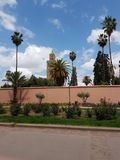 Minaret Koutoubia, Marrakesh zdjęcia royalty free
