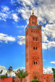 Minaret of Koutoubia Mosque in Marrakech, Morocco Stock Photography