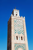 Minaret of the Koutoubia Mosque in Marrakesh Stock Image
