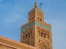 Minaret of the Koutoubia Mosque in Marrakesh Morocco Stock Photography