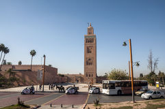 Minaret of the Koutoubia mosque in Marrakesh Royalty Free Stock Photo