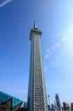 Minaret Krajowy meczet Malezja a K masjid Negara Obraz Royalty Free