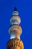 Minaret la nuit Image libre de droits