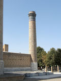 Minaret le septembre 2007 de Samarkand Bibi-Khanim Photos stock
