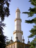 Minaret in the Lednice Valtice area, top part, in shade, Czech Republic. Image stock images