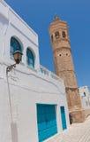 Minaret in Mahdia. Minaret in the town of Mahdia, Tunisia royalty free stock photos