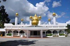 Minaret of Masjid Diraja Tuanku Munawir in Negeri Sembilan. NEGERI SEMBILAN, MALAYSIA – NOVEMBER 15, 2014: Masjid Diraja Tuanku Munawir is also known as the Stock Photo