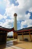 Minaret Masjid Jubel Perak sułtanu Ismail Petra a K A Masjid Pekin fotografia royalty free