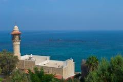 Minaret meczet w Jaffa Zdjęcie Stock