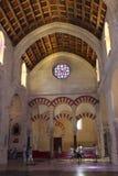Minaret Mihrab Wielki meczetu lub Mezquita sławny wnętrze w cordobie, Hiszpania zdjęcie stock