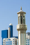 Minaret and modern architecture, Abu Dhabi Royalty Free Stock Photos