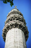 Minaret on the mosque Royalty Free Stock Image