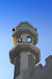 Minaret of a mosque royalty free stock image