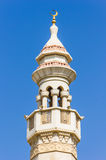 The minaret of a mosque Royalty Free Stock Photography