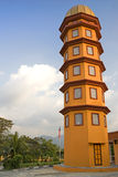 Minaret of a Mosque. Image of the minaret of a colourful mosque in Malaysia Royalty Free Stock Photo